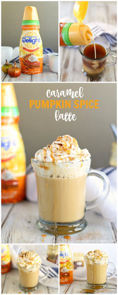 Love PSL's but hate the price tag? Check out this Caramel Pumpkin Spice Latte recipe for a tasty twist on the autumn classic! Recipe Using Pumpkin, Pumpkin Spiced Latte Recipe, Eggnog Recipe, Pumpkin Recipes, Pie Recipes, Pumpkin Spice Creamer, Starbucks Pumpkin Spice, Pumpkin Spice Coffee, Starbucks Coffee