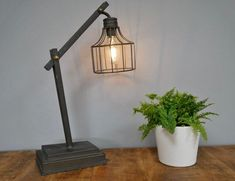 Requires 2 X AA batteries (Not Included) These lamps also include UK delivery. Cordless Table Lamps, Bedside Table Lamps, Desk Lamp, Industrial Lighting, Home Lighting, Industrial Table Lamps, Retro Lamp, Bed Lights, Basket Shelves