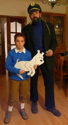 DIY Tintin & Captain Haddock Halloween Costume Idea