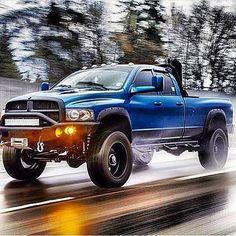 Blue Dodge 24v Cummins