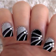 Badgirlnails prom nail idea