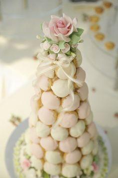 Croquembouche wedding cake tower  One Rochester Singapore Wedding Venue