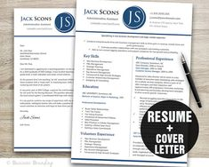 Creative Resume Template Instant Download  by BusinessBranding