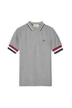 Fred Perry - Bradley Wiggins Bomber Cuff Shirt Steel Marl Bradley Wiggins 718ad0428