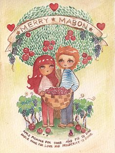 Merry Mabon postcard Watercolor on paper