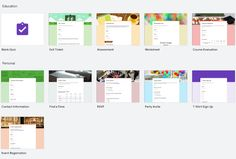 Screenshot of Google Forms Template Gallery Formative And Summative Assessment, Exit Tickets, Templates, Education, Gallery, Google, Stencils, Roof Rack, Vorlage