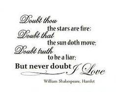 Image result for doubt thou the stars are fire