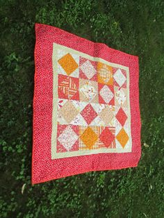 MODERN BABY QUILT  Modern  Wall Quilt Contemporary Nursery Bedding Picnic Quilt Table  Runner Handmade Lap Quilt Quilt Contemporary Throw