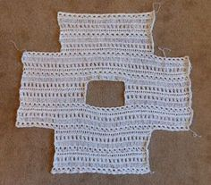 Indian Summer Lace Top - free crochet pattern made all in one piece - so easy!