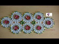 Crochet Tablecloth, Crochet Doilies, Crochet Flowers, Crochet Lace, Fabric Flowers, Pinterest Crochet, Crochet Stars, Crochet Collar, Afghan Crochet Patterns