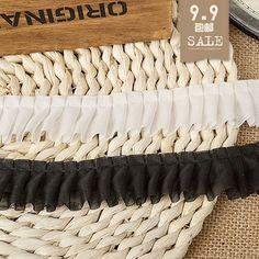 Chiffon lace skirt one hundred fold lace diy lace cuffs