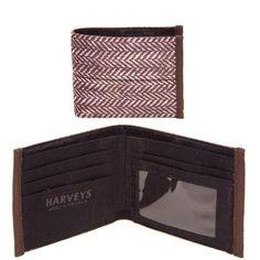 Harveys Seatbelt Men's Wallet, Herringbone HARVEYS. $58.00