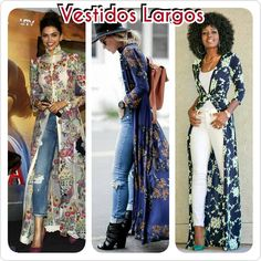 La imagen puede contener: 2 personas Jeans Dress, Shirt Dress, Looks Style, My Style, Fall Outfits, Casual Outfits, Dress Me Up, Winter Fashion, Kimono Top