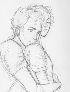casey-awesome:Yeah, Jasiper and Percabeth are spamming the last few pages of my sketchbook C: Cute Couple Drawings, Cool Art Drawings, Art Drawings Sketches, Easy Drawings, Relationship Drawings, Percy Jackson Fan Art, Art Reference Poses, Drawing People, Love Art