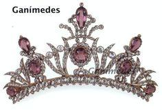 Amethyst and diamond tiara; French circa 1820-1830. Courtesy Ganimedes.