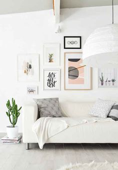 Or if you already have art, rearrange it into a gallery wall.