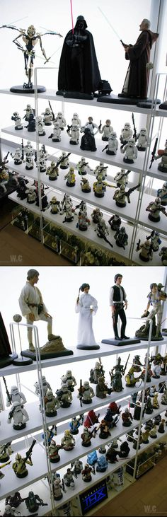 Greatest Star Wars collection in the world...I'm pretty sure I would piss my pants if I stepped into this room