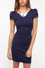 Silence & Noise Structured Cap Sleeve Dress