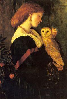 Il Barbagianni (The Owl)    Valentine Cameron Prinsep, 1863