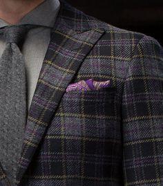 Veste / Tweed / Motifs / Pochette / Coupe / Cravate / Chemise