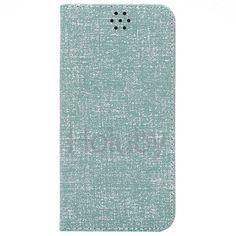 Automatische Absaugung Cloth Texture-Halter-Standplatz-TPU   PU-Leder Tasche für iPhone 6 Plus 6S Plus-Blau