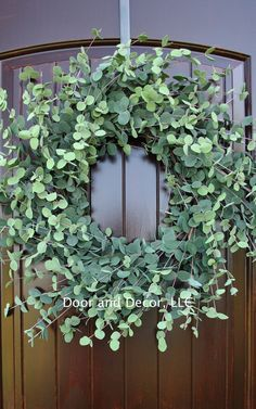 Faux Eucalyptus, spring wreath, summer wreath, farmhouse decor, rustic wreath, front door wreaths  Available in 20 and 28 Eucalyptus Wreath  Check