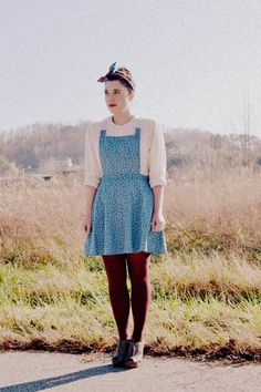Pinafore dress<3 I just need some in my life!!