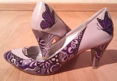 Custom shoes by Pimp My Pumps  http://www.facebook.com/pimpmypumps