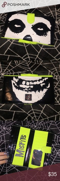 MISFITS Wallet So I got this IronFist wallet a week ago but it doesn't fit inside a new purse of mine. Only used for 2 days. Still kinda iffy on selling it but would anyone be interested? Iron Fist Bags Wallets