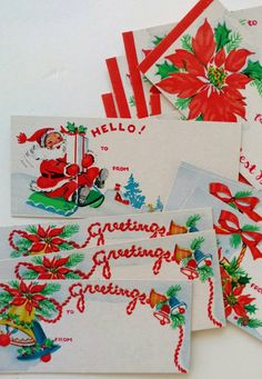 Set of vintage Christmas gift tags 15 by HomemadeHousewives