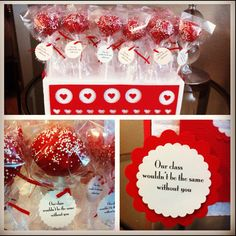 Valentines Day CakePops for my Daughters Class... The Kids Loved them :)