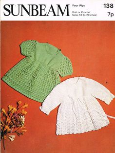 ec8e06a770bee0 baby matinee coats vintage knitting and crochet pattern PDF instant download