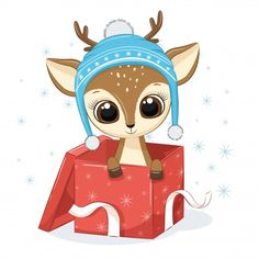 Christmas Cartoons, Christmas Clipart, Cute Animal Drawings, Cute Drawings, Reindeer Drawing, Cross Stitch Games, Christmas Puzzle, Cute Christmas Wallpaper, Vector Flowers