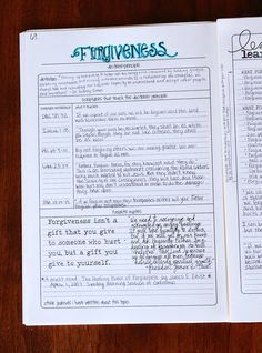 This is my newest favorite layout in my topics journal . Its about forgiveness and the majority of it is from a talk that I found a long. Bible Study Tips, Bible Study Journal, Scripture Study, Scripture Journal, Forgiveness Bible Study, Prayer Journals, Blank Journal, Journal Layout, Journal Ideas