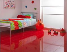 Delightful Children Will Love These Bright Red Ceramic Tiles! And The Best Thing About  Ceramic Tiles