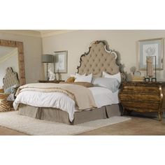 Hooker Sanctuary queen tufted headboard ($1,049) found on Polyvore