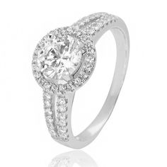 Silver Cubic Zirconia Ring SR2043 from Beaverbrooks the Jewellers