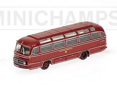 Mercedes Benz 0321H (Deutsche Bundesbahn 1957) Diecast Model Bus by Minichamps 169031081 This Mercedes Benz 0321H (Deutsche Bundesbahn 1957) Diecast Model Bus is Red and features working wheels. It is made by Minichamps and is 1:160 scale (approx. 6cm / 2.4in long).