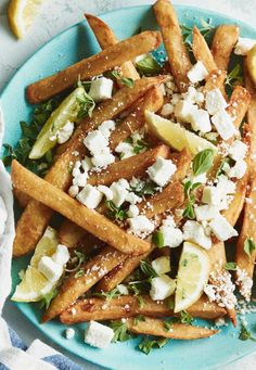 Oregano Feta Fries from www.whatsgabycooking.com easy to make / and even easier to eat! (@whatsgabycookin)