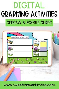 Are you looking for a fun and engaging activities for practicing data and graphing? You and your students will LOVE this interactive digital resource for Google Slides and Seesaw! Not only will your students have some spring fun but it also the PERFECT way to practice tons of skills in an engaging way! Students will get practice collecting, sorting, labeling, organizing, analyzing, and ask and answering questions about data. It is also great as an early finisher or math center for students!
