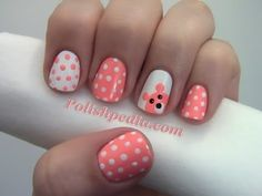 http://www.polishpedia.com/teddy-bear-nail-art.html    As a little girl I had a couple favorite stuffed animals. Now that I am older I can't seem to remember where they have gone but I still think teddy bears are adorable.  Since this month is animal themed I decided that a teddy bear nail art design would fit right in.  I hope you enjoy this look...