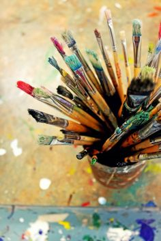 Фотовдохновение! 60 фото о красках и кистях.