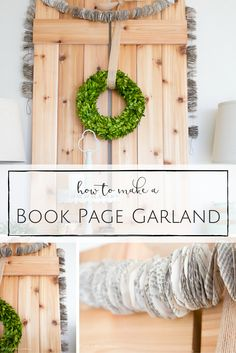 No-so-Christmay Christmas Decortions - This simple and inexpensive garland would look so perfect hanging up all year round! Inexpensive Home Decor, Cute Home Decor, Book Page Garland, How To Make Garland, Garland Making, Paper Crafts, Diy Crafts, Book Crafts, Recycle Crafts