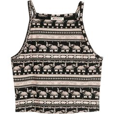 Short Jersey Tank Top $9.99 ($9.99) ❤ liked on Polyvore featuring tops, shirts, crop tops, crop, tank tops, short tops, short crop tops, crop shirt, print crop top and elephant crop top