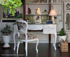 Bureau chic minable  scrivania shabby chic par MaisonBlancheNeige