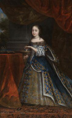 artist unknown, 1661 Portrait of Princess Henrietta of England,