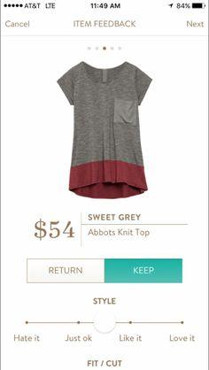Sweet grey abbot knit top