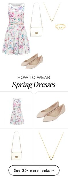 """Spring dress"" by morgan1496 on Polyvore"