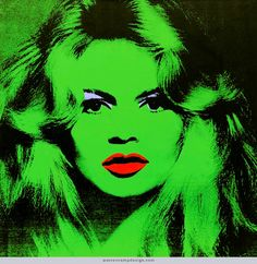 "Warhol's ""Brigitte Bardot"" single, 1974 — See recent auction results for it on Warren's home page."