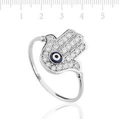 Amazon.com: Evil Eye Ring, Hamsa Ring with CZ stones by Evil Eye Gems (Evil Eye Jewelry): Everything Else